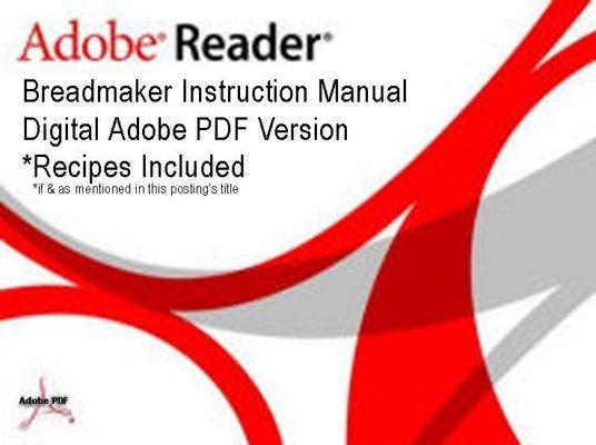 Product picture Regal Breadmaker Model K6771 Instruction Manual Recipes.PDF